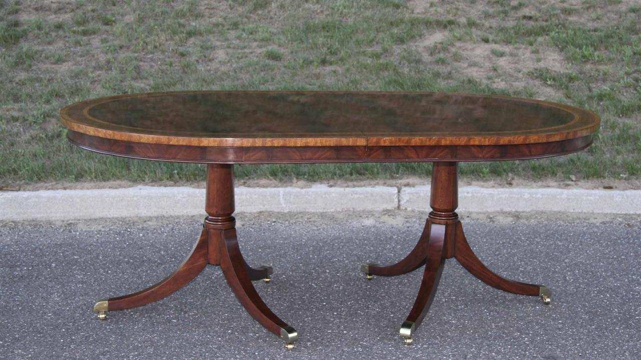large oval dining room table