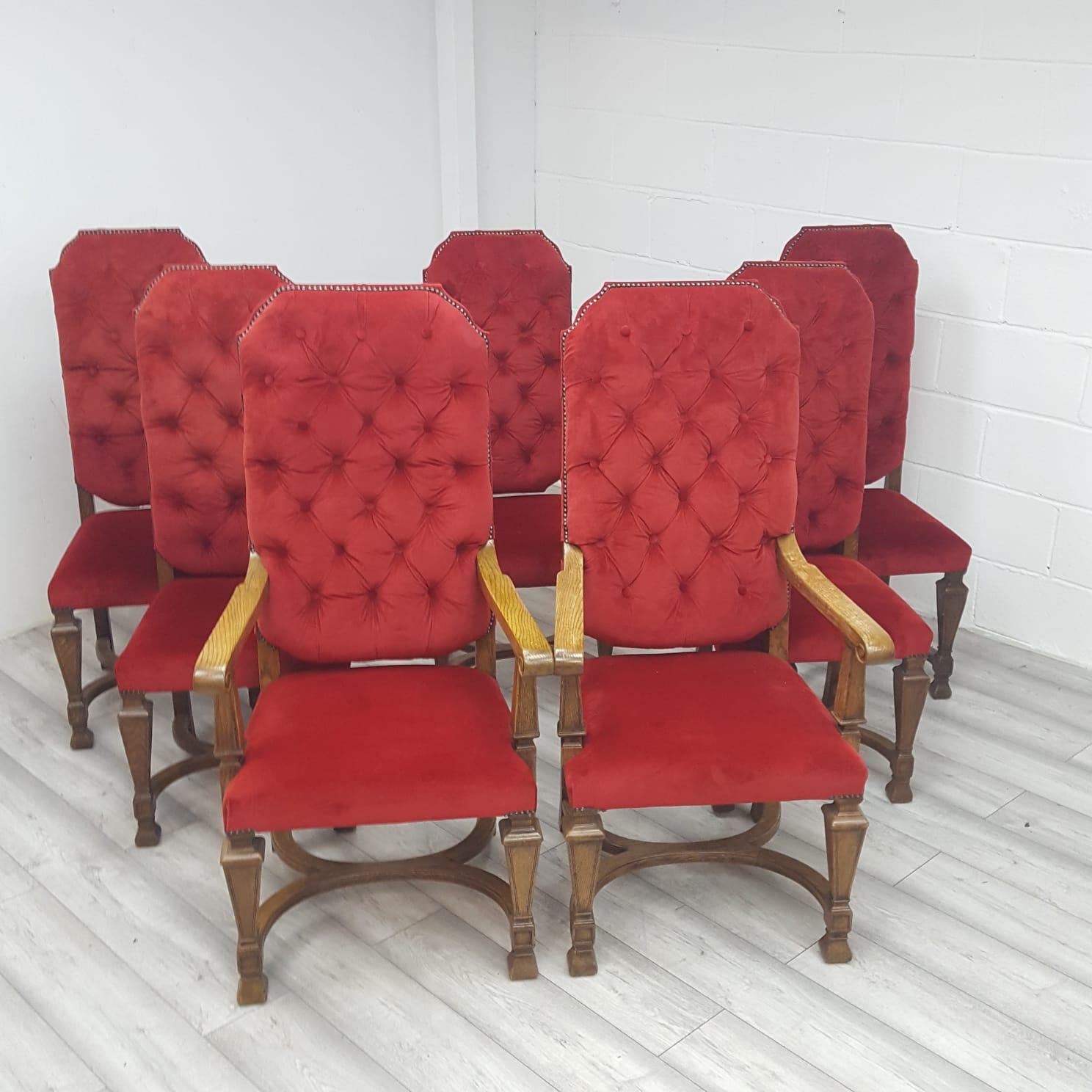 used oak dining chairs