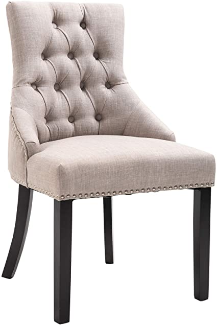 upholstered wingback dining room chairs