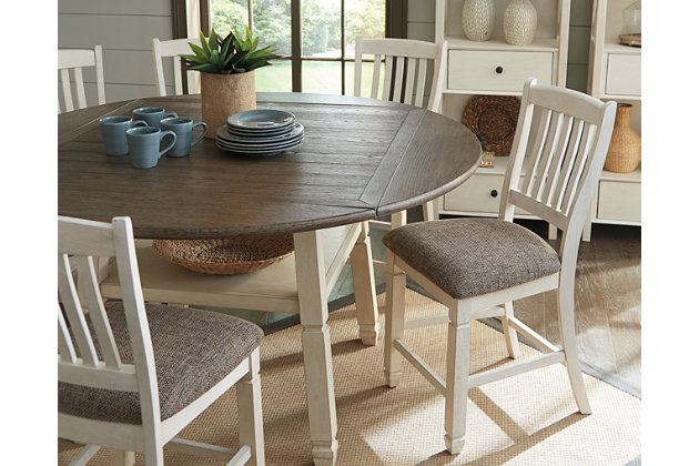 ashley furniture round glass dining table