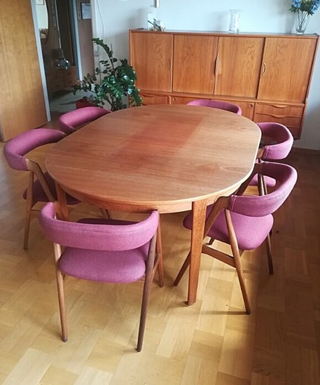 1950s dining table and chairs
