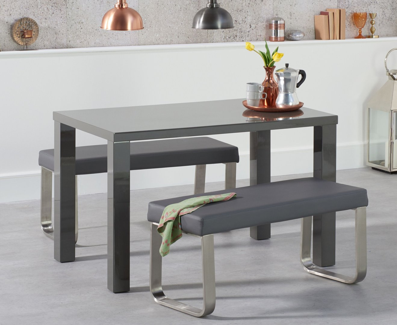 dining table with 2 benches