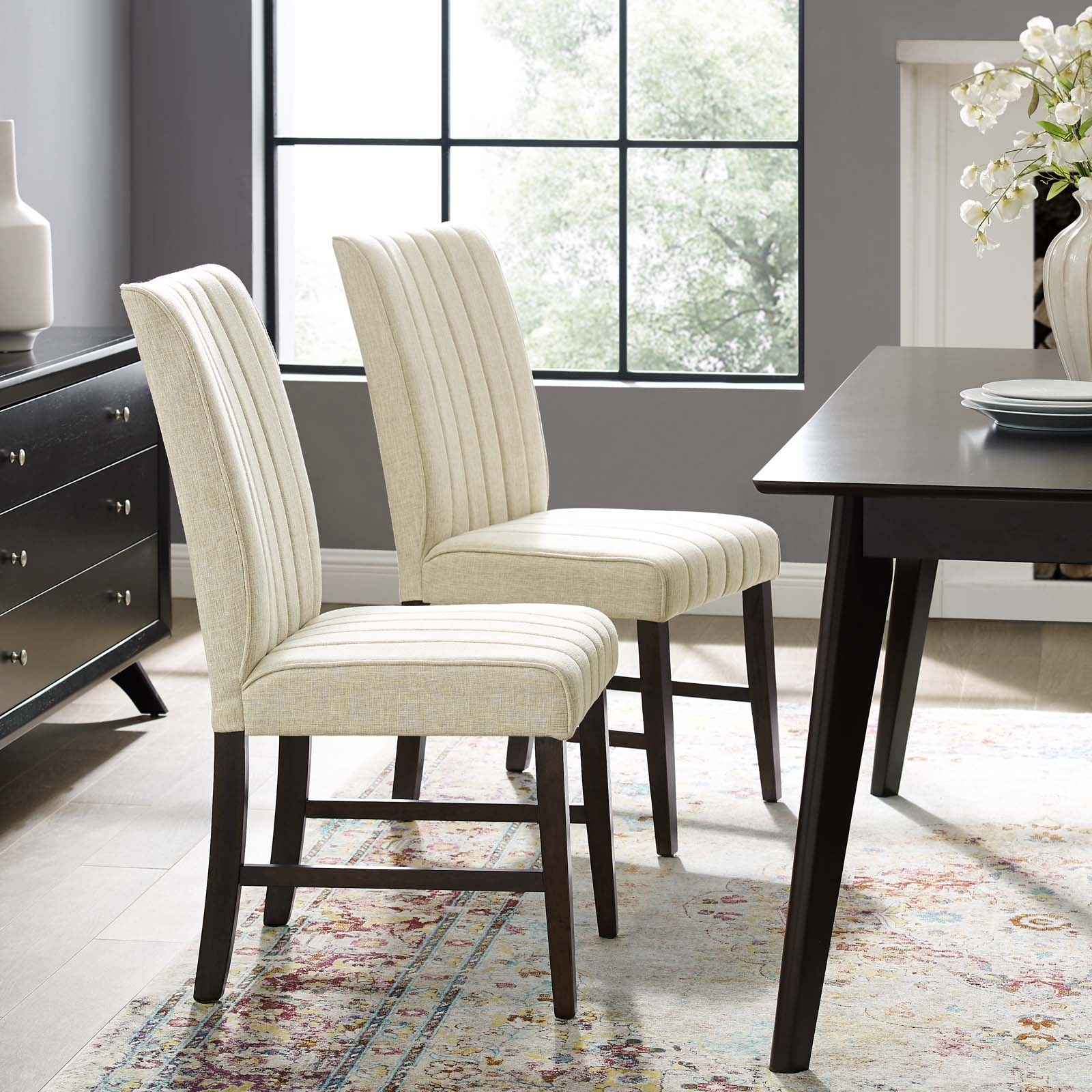 upholstered fabric dining chairs