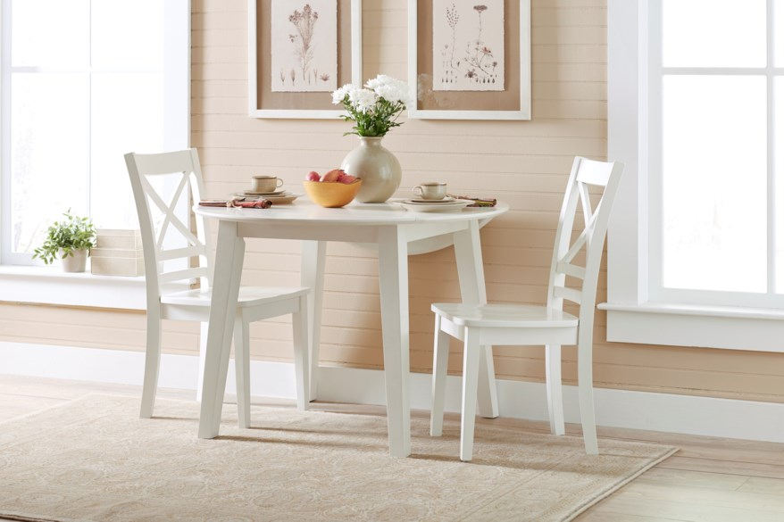 round drop leaf dining table and chairs