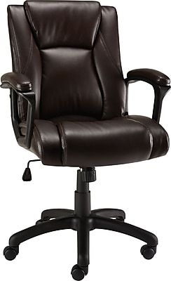 staples brown leather office chair
