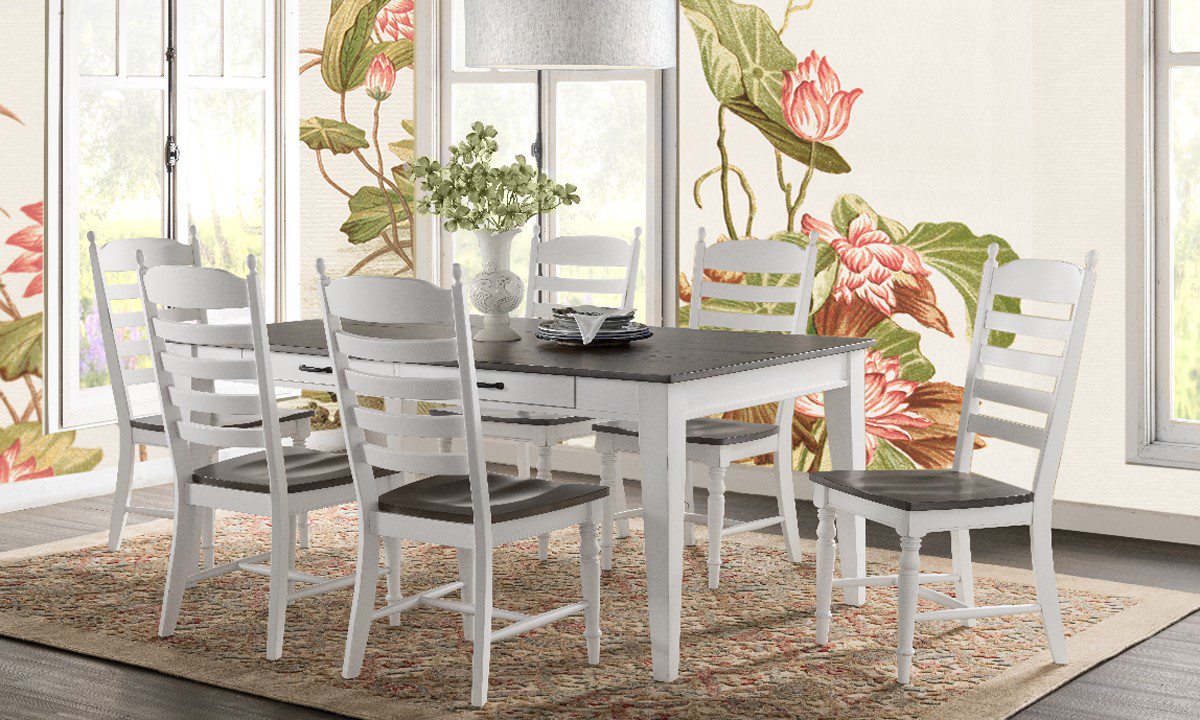 cheap farmhouse dining table and chairs