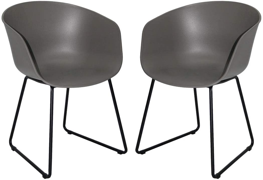 black and gray dining chairs