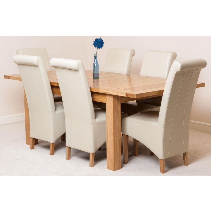 ivory leather dining room chairs