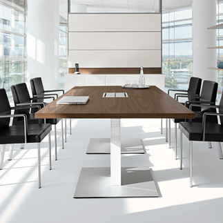 office meeting room table and chairs