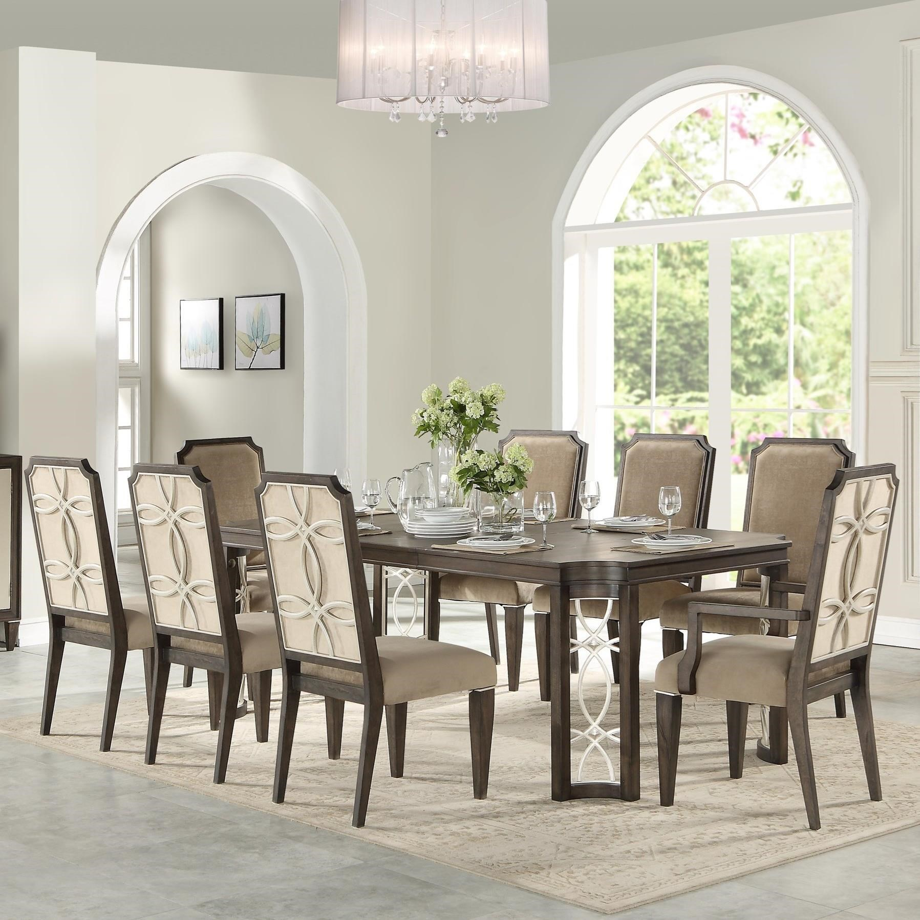 9 piece dining table and chairs
