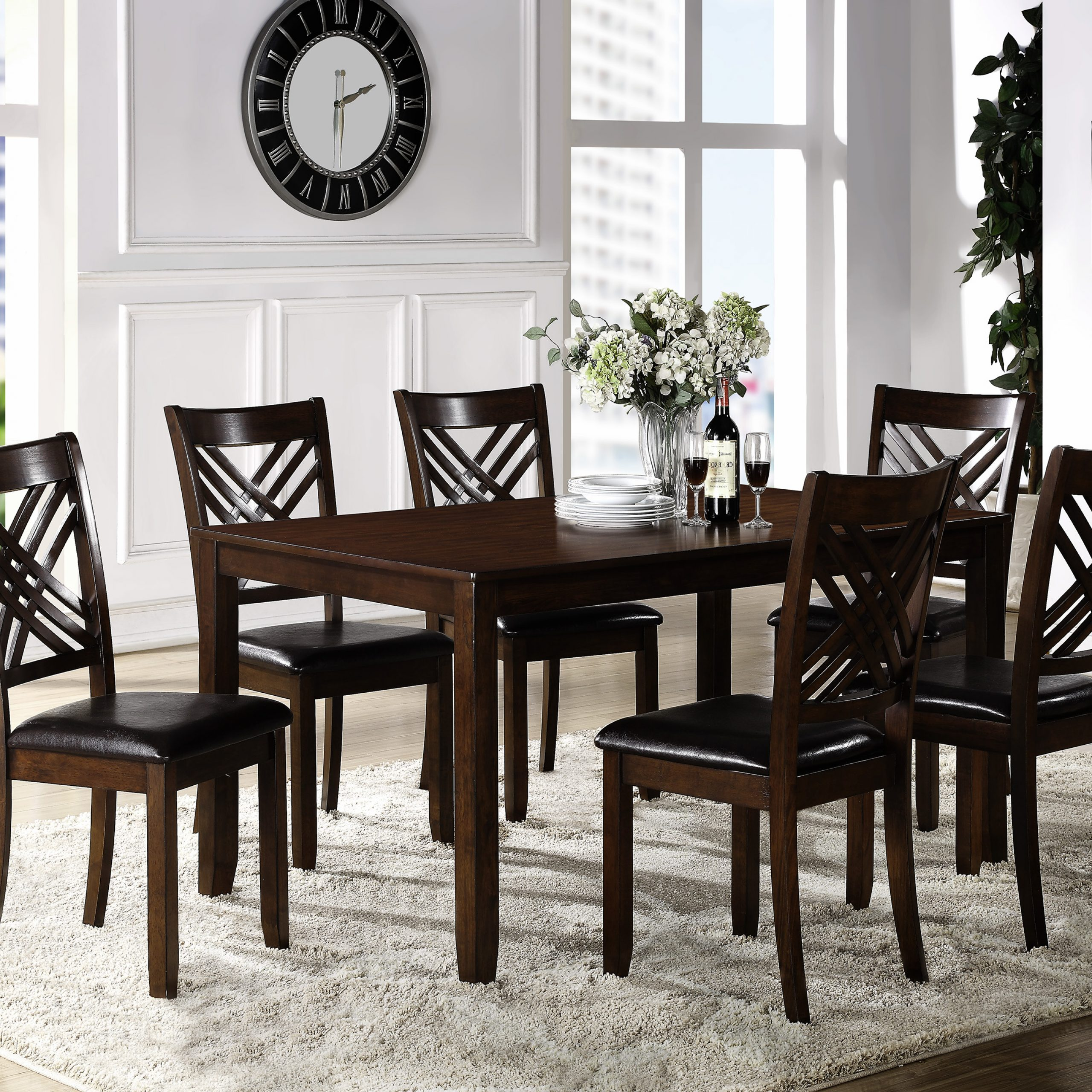 dining room table six chairs