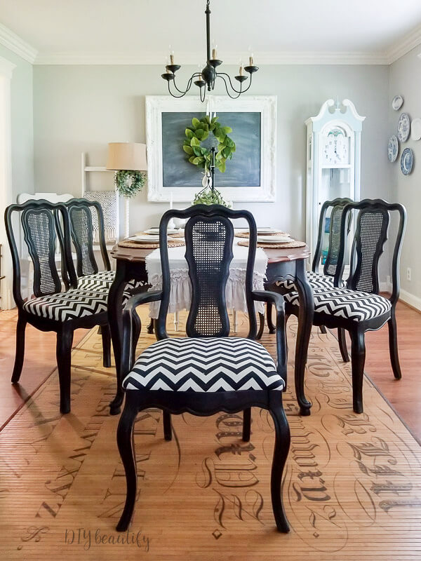 How To Easily Reupholster Dining Seat Cushions Diy Beautify Creating Beauty At Home