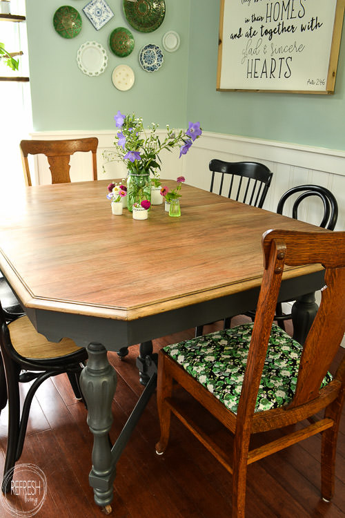 refinish dining room table top