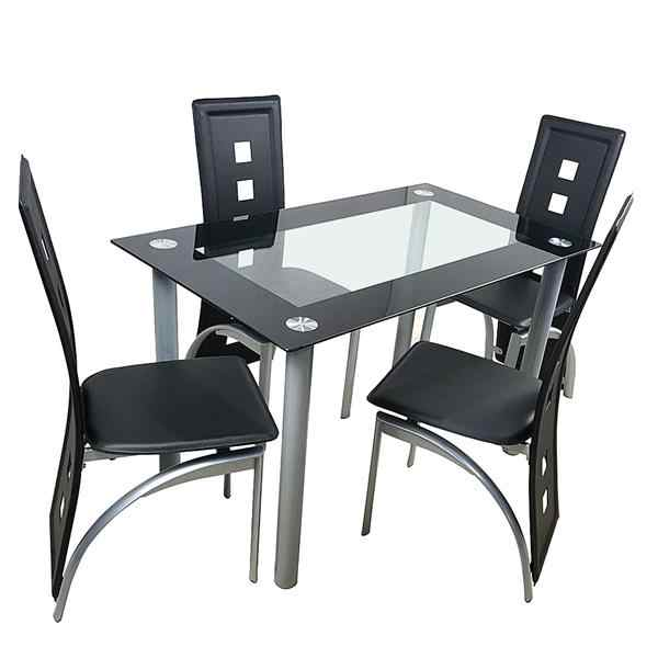 glass dining table and chair sets