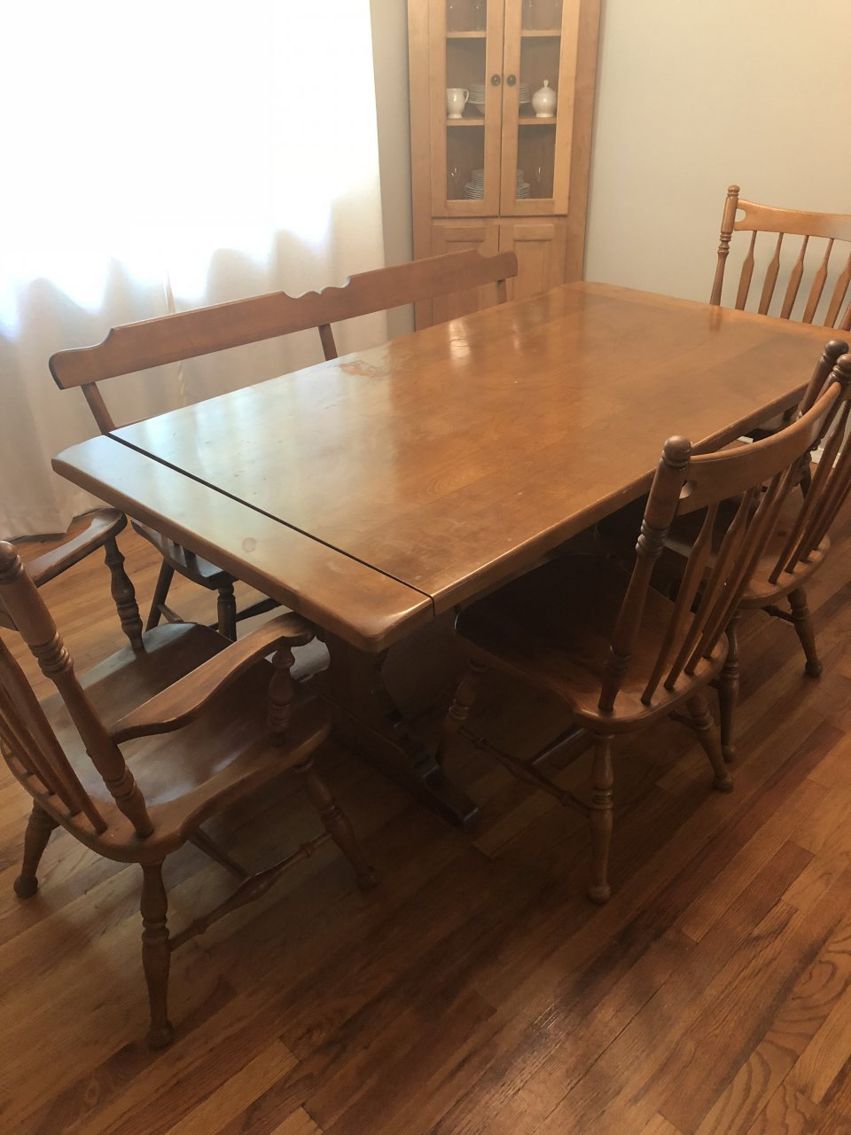 ethan allen pine dining table