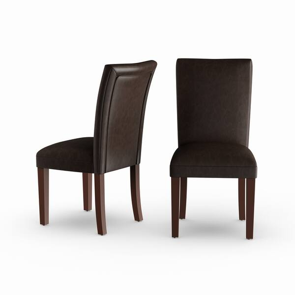 leather parson dining chairs