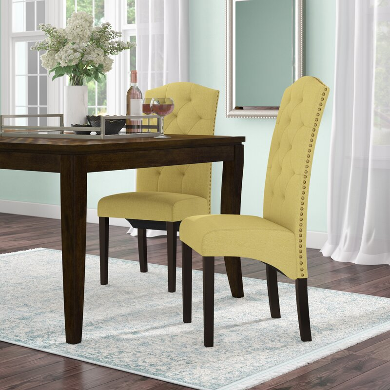 upholstered parsons chairs dining