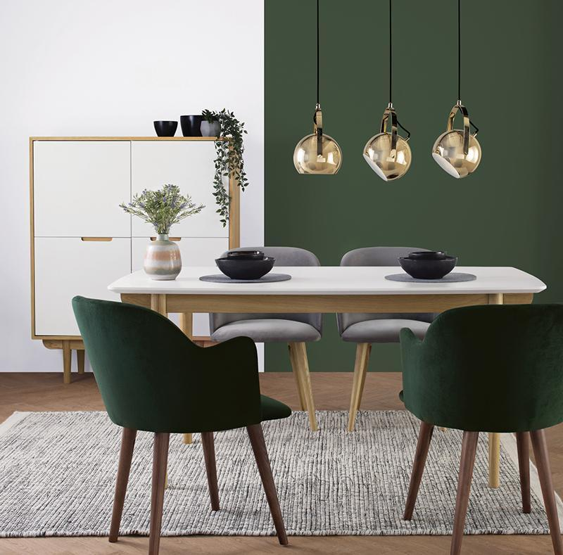 green dining room table