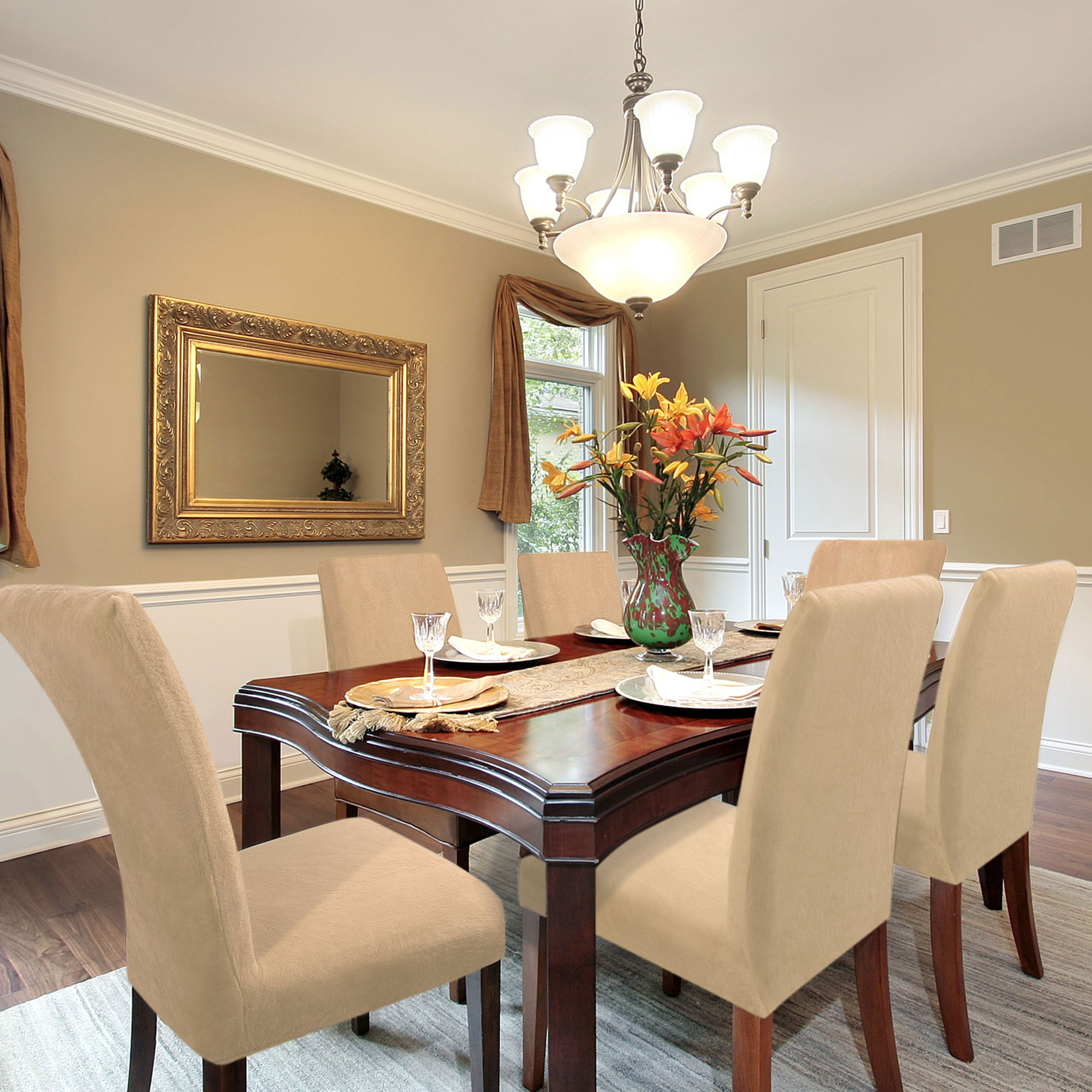 plush dining room chairs