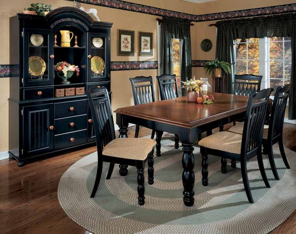 country dining room table sets