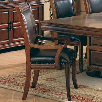 distressed leather dining room chairs