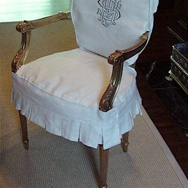 tailored slipcover for dining chair