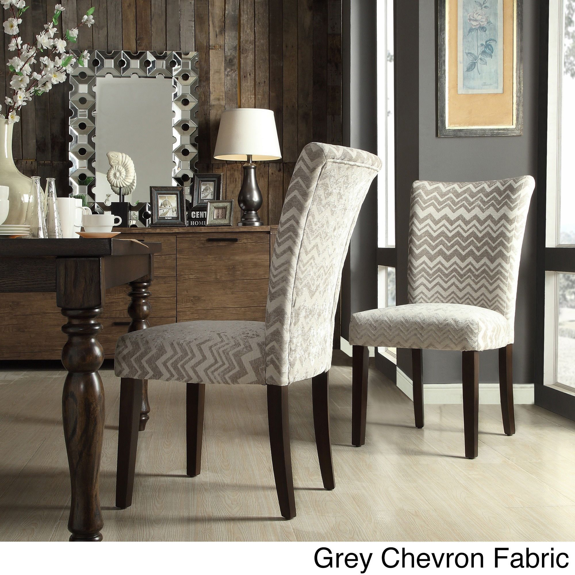 inspire q catherine print parsons dining side chair