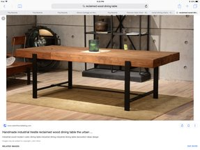 solid wood dining table rustic