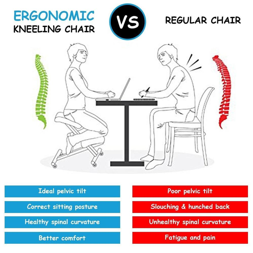 ergonomic kneeling posture office chair with back