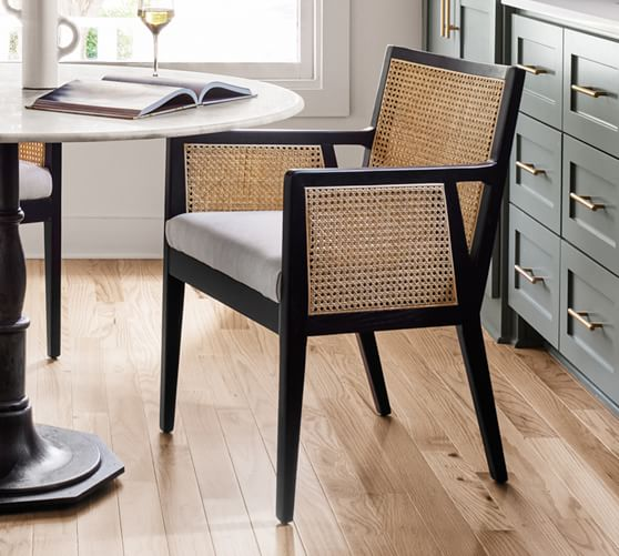 black cane dining chairs