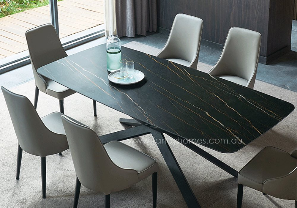 stone dining table and chairs