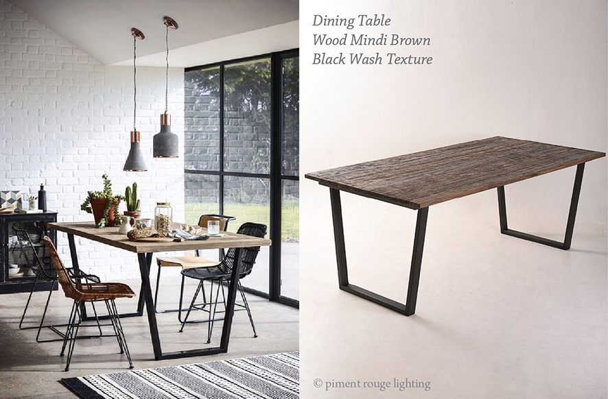 dining table industrial style