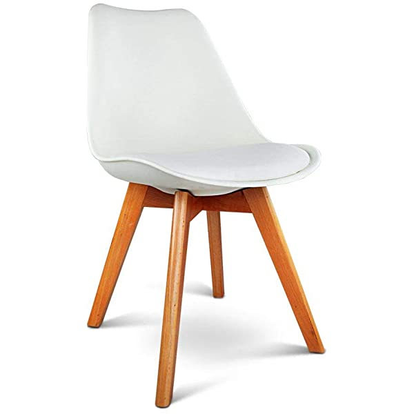 white eames dining chair