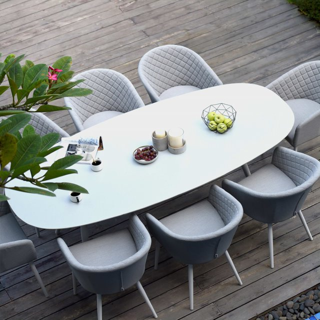 8 seater oval dining table