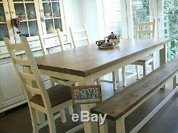 chunky dining table and chairs