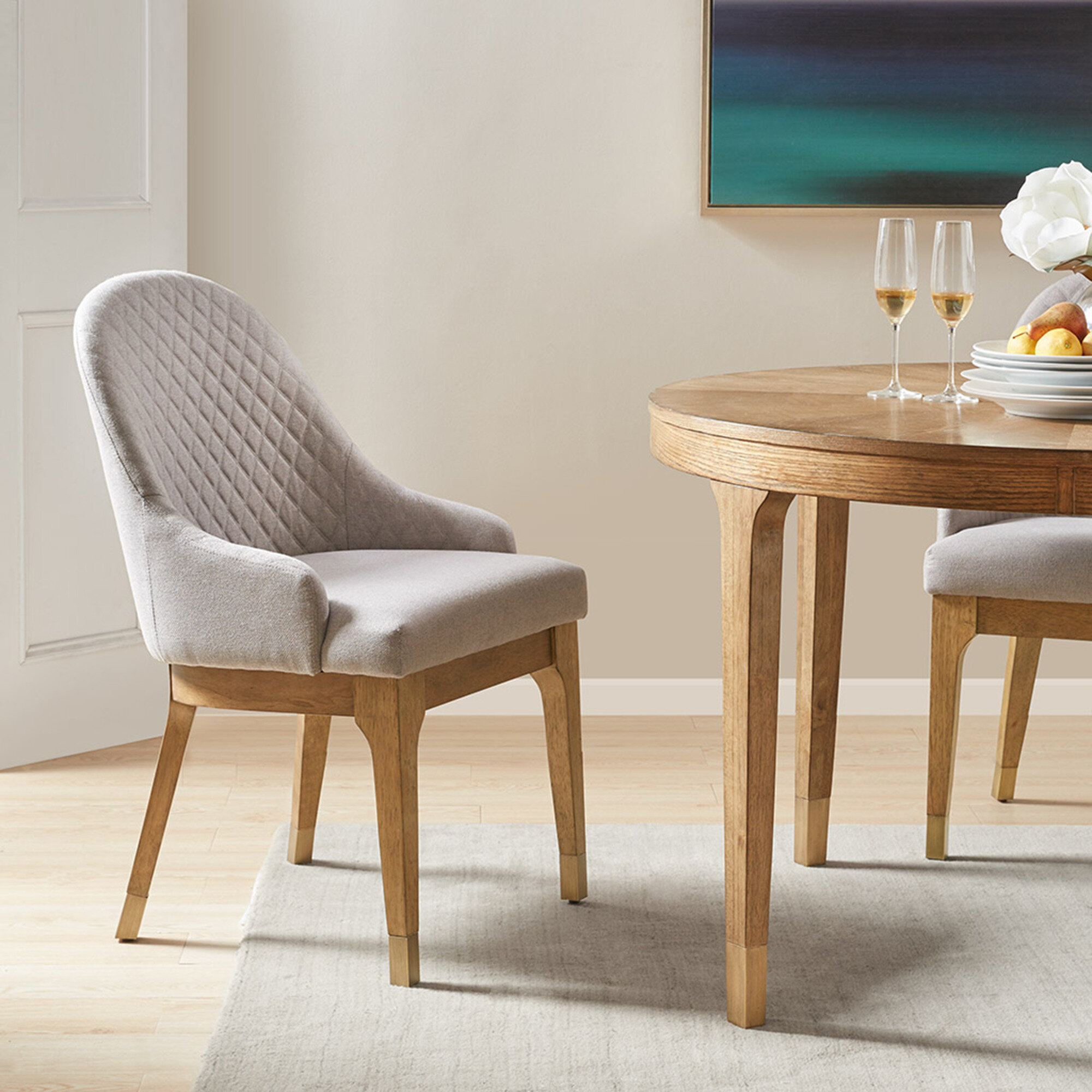 light gray dining chairs