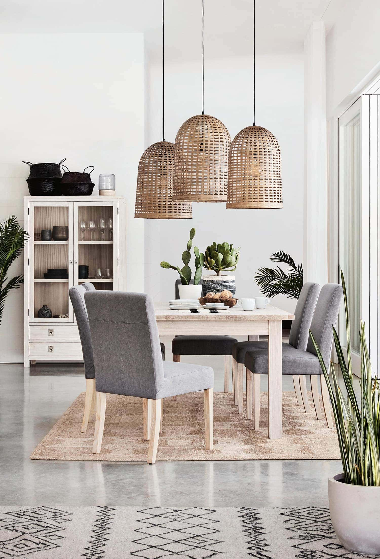 two dining tables in one room