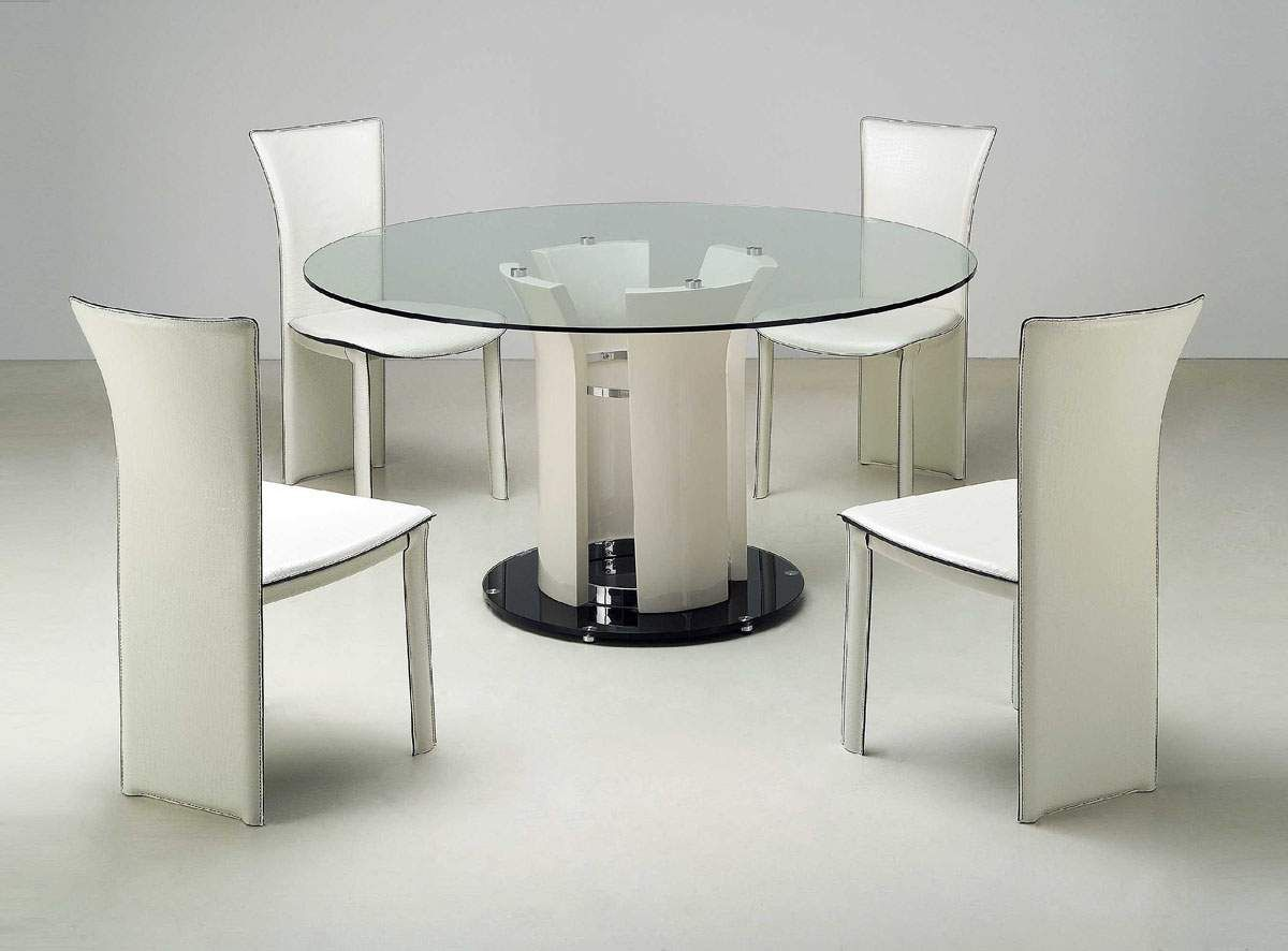 glass dining tables round