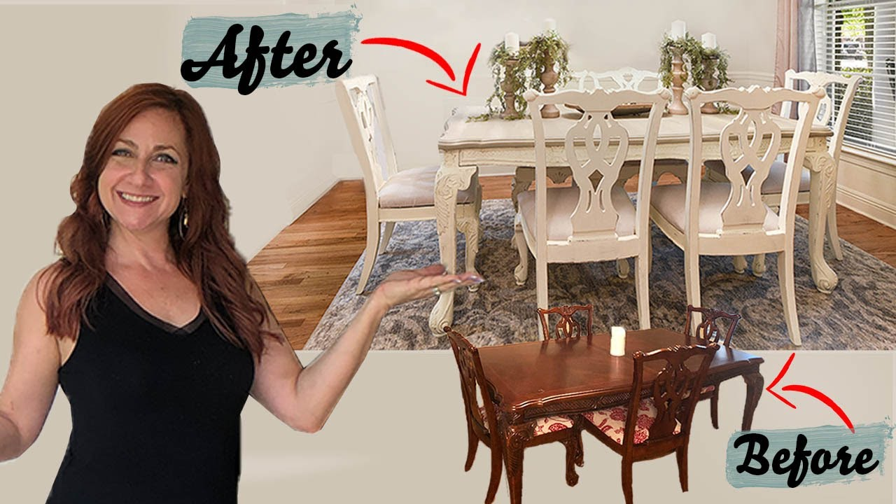 painted dining room table and chairs ideas