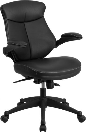 executive office chair with flip up arms
