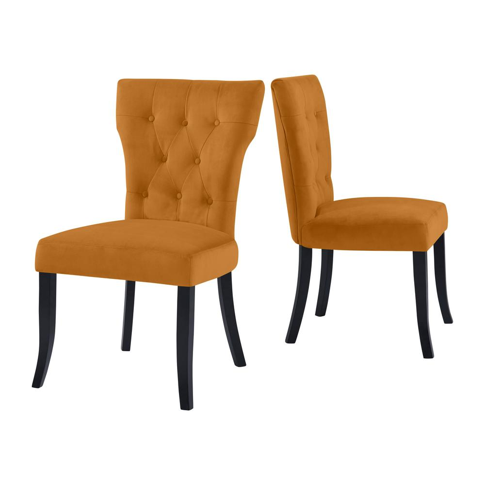 gold upholstered dining chairs