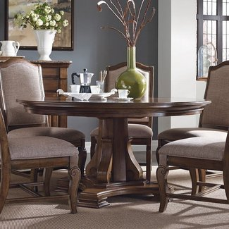 60 inch round dining table with 6 chairs