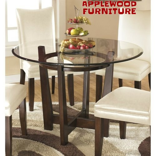 glass top dining room table round