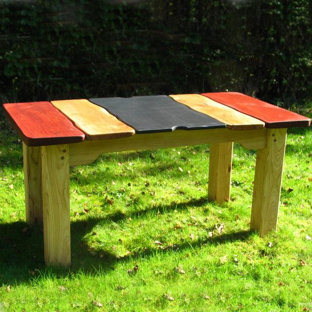 driftwood outdoor dining table