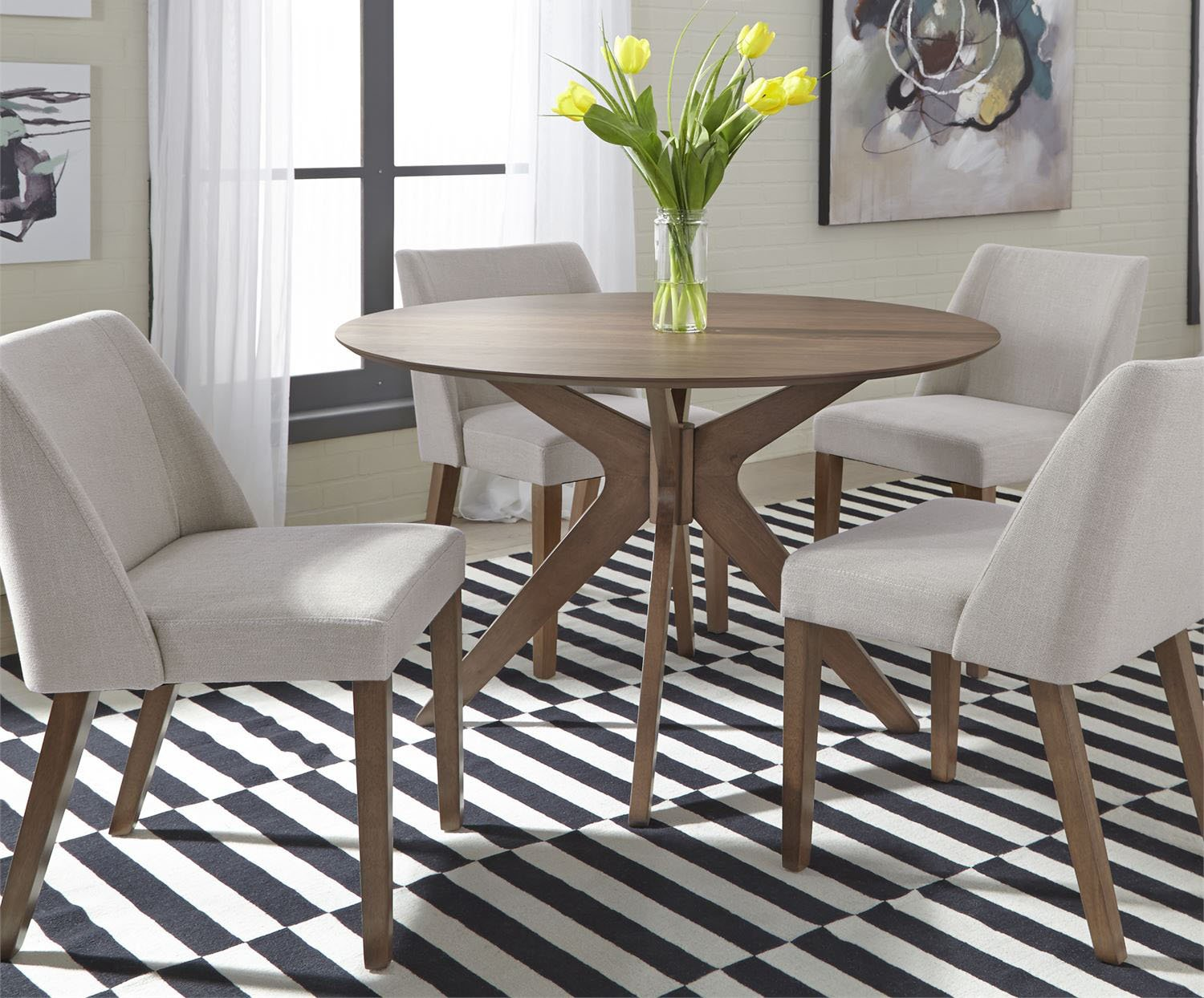round dining table and chairs space saver
