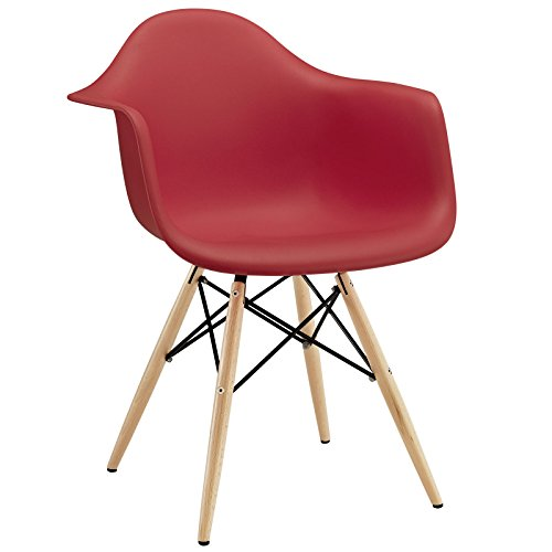 red modern dining chairs
