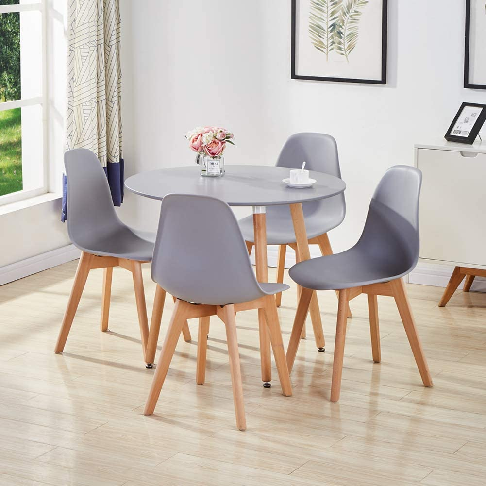 round dining table and 4 chairs set