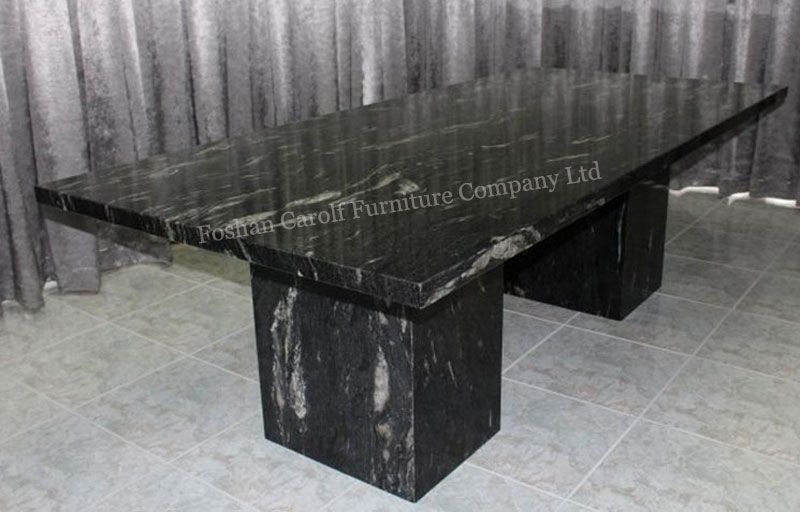 black marble dining table set