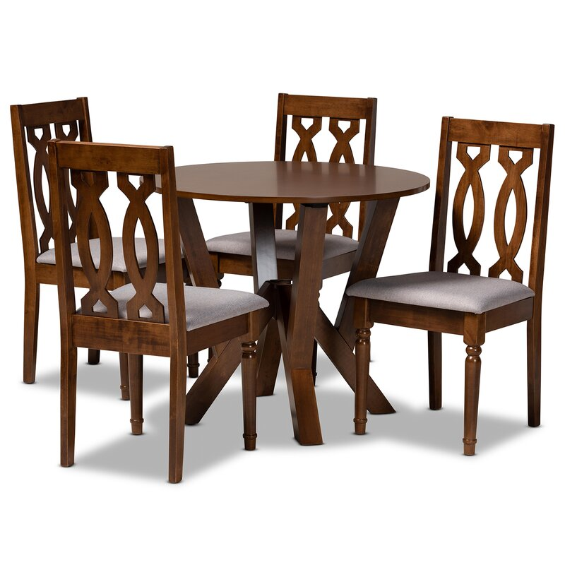 red oak dining room table