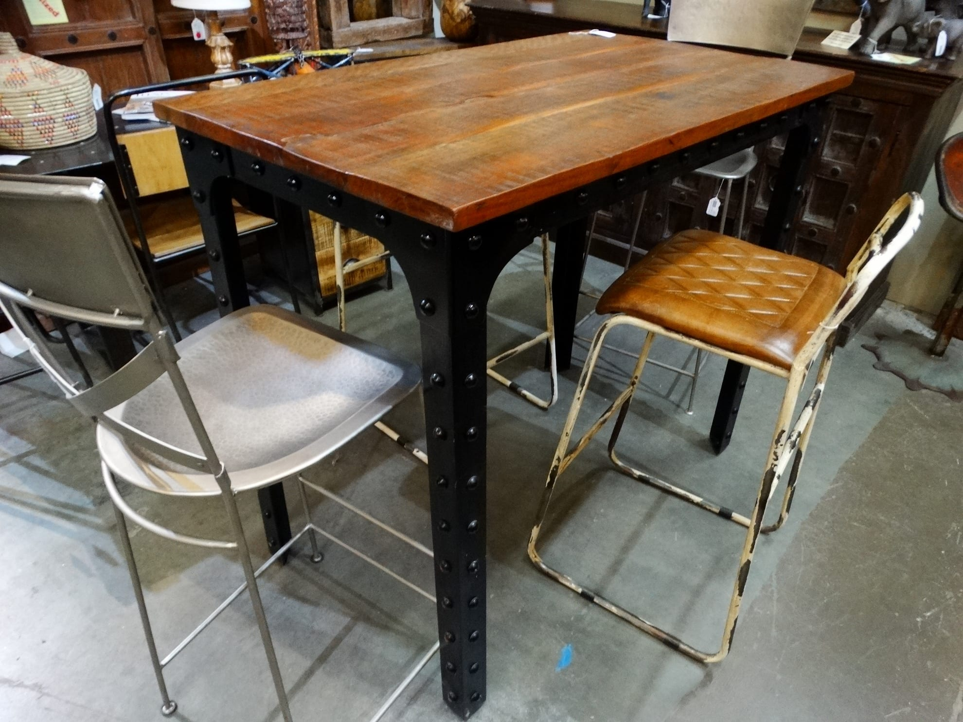 rustic bar height dining table